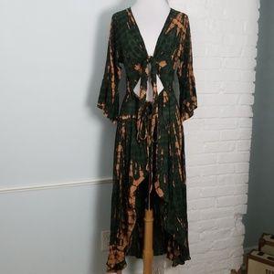 Tara tie dye maxi dress